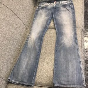 "7 for All Mankind ""A"" Pocket distressed size 30"